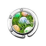 Colgador para bolsos de Pascua con diseño de huevos de pascua en prado, varios diseños únicos