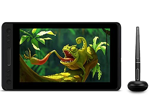 Xyfw Tableta De Dibujo con Pantalla De Lápiz Sin Batería, Monitor De Tableta Digital De 8192 Niveles con Función De Inclinación Vidrio AG