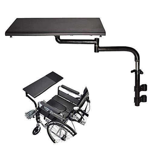 Rollstuhl Tablett, Rollstuhltisch Universal-Rollstuhlrunde Geeignet für Manuell Angetriebene oder elektrische Rollstühle Zubehör für Rollstuhltische Push Pull Handy,Schwarz