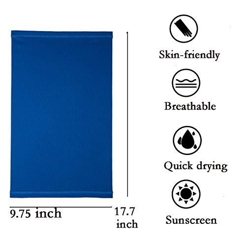 Sun UV Protection Neck Gaiter Face Mask Washable Reusable Face Cover Scarf Dust Wind Bandana Balaclava for Fishing Hiking