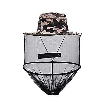Queta Chapeaux de pêche pour abeilles, moustiques, protection de la tête et du visage, unisexe, pour adulte