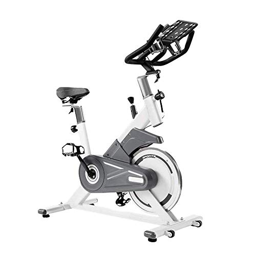 Indoor Cycling Bike Stationair Belt Drive Hometrainers met Tablet houder for Thuis Cardio Gym Workout ZHW345