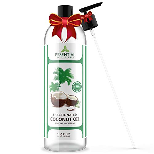 Fractionated Coconut Carrier Oil - Beauty in a Bottle - 100% Pure and Natural Therapeutic Grade - 16...