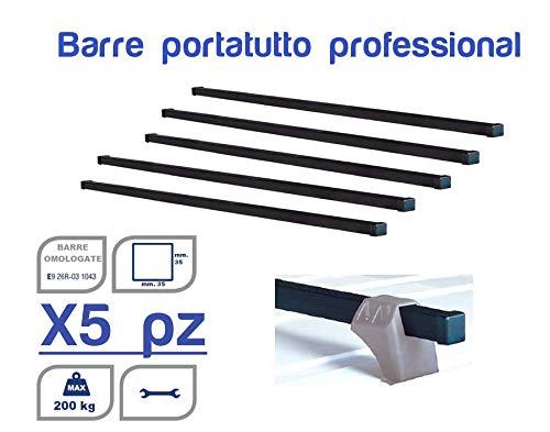 N°5 Barre portatutto Professionali per Veicoli Commerciali 200 per Mercedes Sprinter II (W906) 06