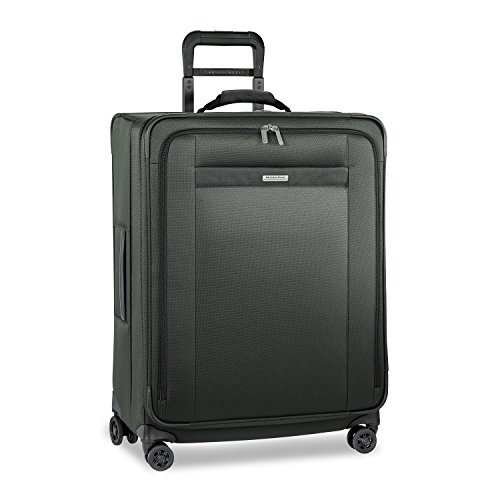 Why Should You Buy Briggs & Riley Transcend-Softside Expandable Medium Checked Spinner Luggage, Rain...