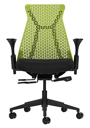 Bowery Fully Adjustable Management Office Chair (Green/Black)
