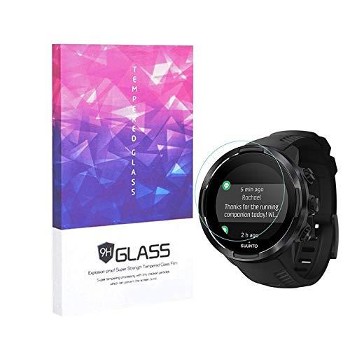 Paquete de 3 Suunto 9 Baro 9H Protector de pantalla de vidrio templado, LUXACURY Protector de pantalla Protector de pantalla para Suunto 9 Baro Reloj inteligente Protector de pantalla Crystal Clear anti-Fingerprint / Anti-Scratch / Bubble-Free
