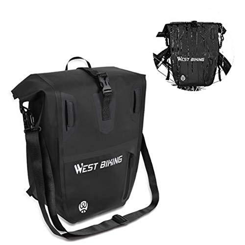 N//A Bicycle Rack Bag With Handles Bike Luggage Bag Trunk Bags Rear Carrier Bag Waterproof Reflective Backpack Cycling Bike Rear Seat Cargo Bag MTB Road Bike Rack Carrier Trunk Bag