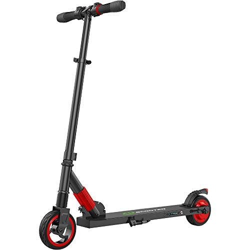 M MEGAWHEELS Scooter-Patinete electrico Adulto y niño, Ajustable la Altura, 5000 mAh, 23km/h.(Rojo) ⭐