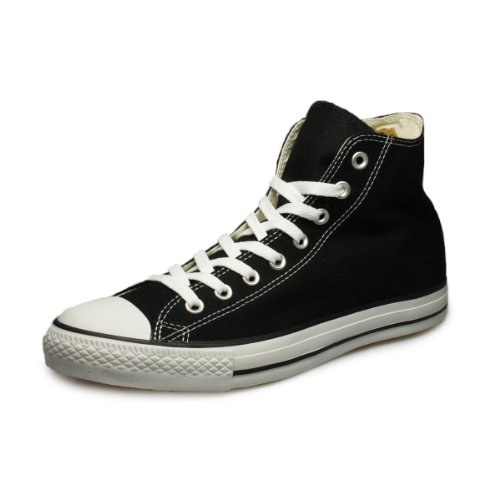 Converse Clothing & Apparel Chuck Taylor All Star Canvas High Top Sneaker, Black/White, 8.5 Women/6.5 Men