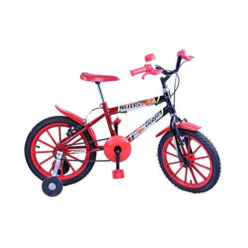 Bicicleta Meninos Infantil Aro 16 Kids cor Preto com Vermelho