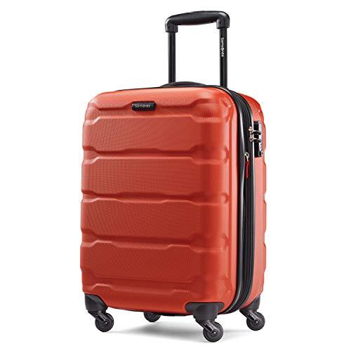 Samsonite Omni PC Hardside Expandable Luggage with Spinner Wheels, Burnt Orange, Carry-On 20-Inch