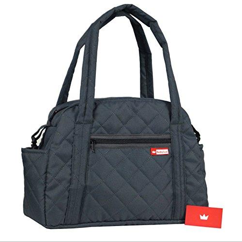 BabyLux Wickeltasche CANDY PIK Kinderwagentasche Baby Windel Tasche Pflegetasche (CandyPik Grau)