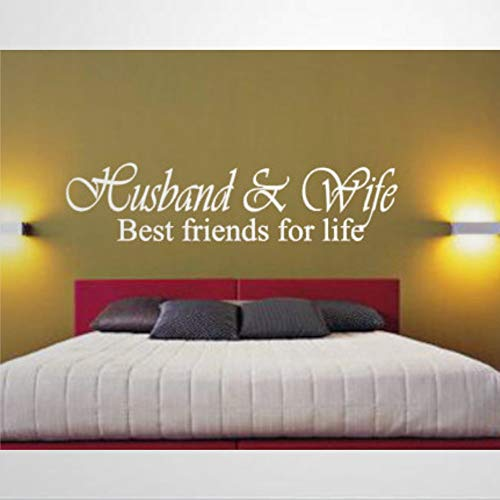 Best Friends Life Husband Wife Bed Master Newlyweds New Lettering Wall Stickers & Murals, Vinyl Art Wall Decal,Home Poster Decor for St.Patrick's Day,Mardi Gras,Living Room ,Nursery.