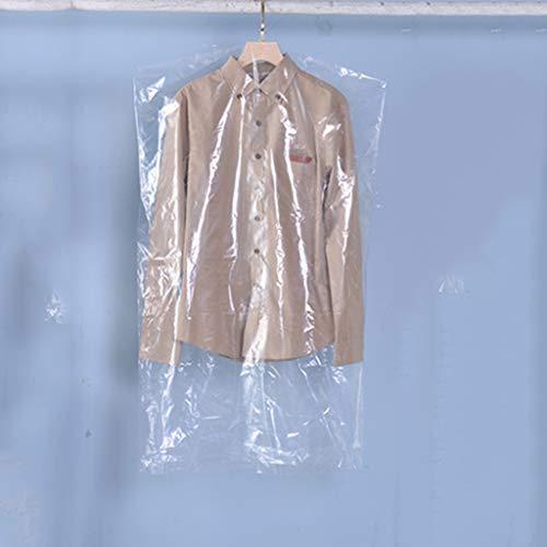 No logo 50 st. plagg överdrag väskor, lätt klar lång klänning kostym väska för lagring och resor dammtät kläder skydd för dräkt, klänning och kappa på ett skåp (storlek: 60 x 100 cm)