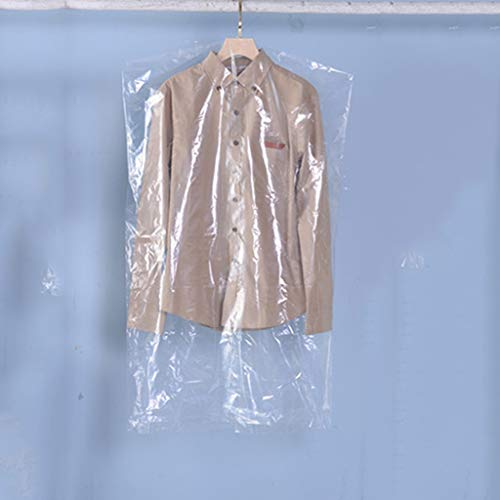 50PCS Garment Cover tassen, lichtgewicht Clear lange jurk Suit zak for opslag en Travel Dustproof Kleding Protector for Suit, Jurk en Coat Closet Storage (Size : 60 * 100cm)