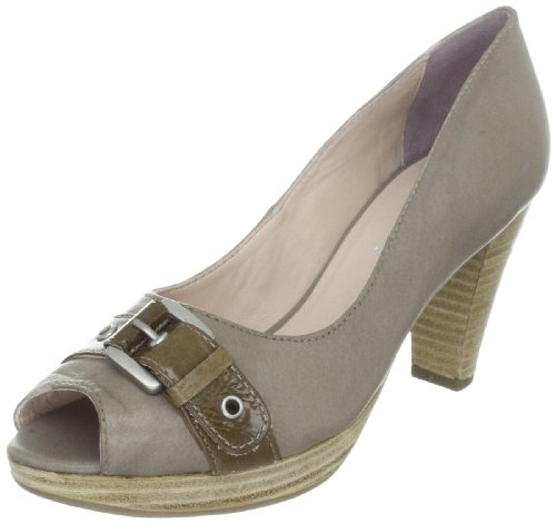 comma Damen Nicole Pumps, Grau (Taupe 360), 40 EU