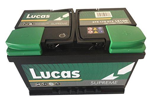 LS100 Lucas Supreme accu KFZ-12 V 72 Ah