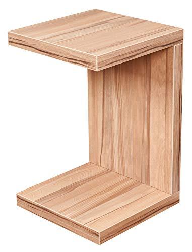 levandeo Beistelltisch Coco Kernbuche 32x32cm Höhe 50cm Keine Montage fest verleimt Holz Couchtisch Tisch Sofatisch