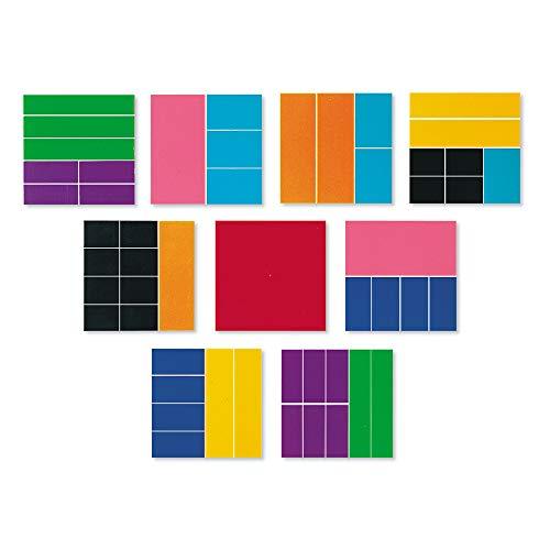 Learning Resources LER0619 Deluxe-Bruchrechenquadrate in Regenbogenfarben