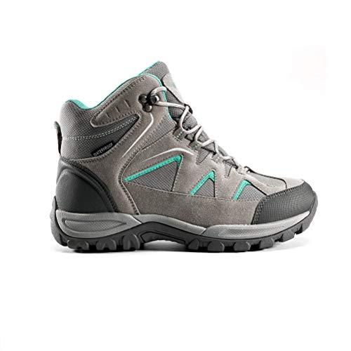 N/P, scarpe da trekking impermeabili da donna, antiscivolo, impermeabili, adatte per escursioni, viaggi all'aria aperta, Grigio (grigio.), 36 EU