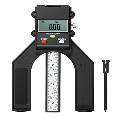 Proster 80mm 3 1/8 inch Digital Height Gauge Magnetic Mini Height Gauge Depth Gauge for Saw Table Thickness Gauge with Magnetic Self Standing for Woodworking Home Decoration
