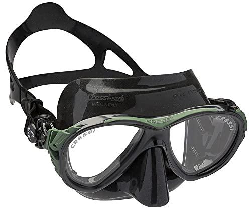 RatenKont Máscara de Buceo Máscara de Snorkeling Máscara de Silicona Adulta para Hombres Mujer Baja Volumen Interno Ojos Evolución Black