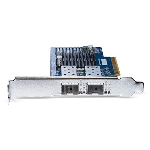 10Gtek® 10GbE PCIE Netzwerkkarte für Intel X520-DA2/ X520-SR2-82599ES Chip, Dual SFP+ Ports, 10Gbit PCI Express x8 LAN Adapter, 10Gb NIC für Windows Server, Win8, 10, Linux, 3-Year Warranty, MEHRWEG