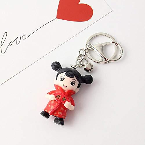 jiwenhua Autoschlüssel Anhänger glückliches Paar Puppe Schlüsselanhänger Cartoon Mann und Frau Hochzeitspuppe glückliche Auto Tricket , Haohe Anhänger 083, OPP Tasche