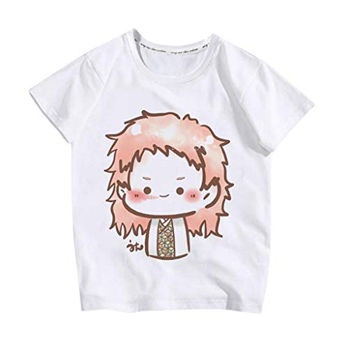 Inawayls Kinder Kleinkind Cartoon T-Shirt Sommer niedlich T-Shirt Junge Mädchen einfarbig niedlich Cartoon Anime Bedruckte Bluse O-Ausschnitt Kurzarm Freizeit T-Shirt Tops