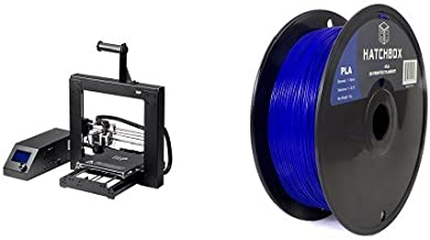 Monoprice 13860 Maker Select 3d Printer V2 and HATCHBOX 3D PLA-1KG1.75-BLU PLA 3D Printer Filament, Dimensional Accuracy +/- 0.05 mm, 1 kg Spool, 1.75 mm, Blue bundle