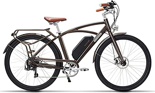 N&I Bicicleta eléctrica eléctrica 700C 48 V 13 Ah 400 W High Speed Electric Bike 5 Level Pedal Assist Longer Endurance Retro Style Ebike