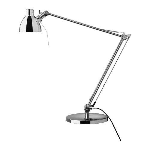 Ikea ANTIFONI – lampa robocza, niklowana
