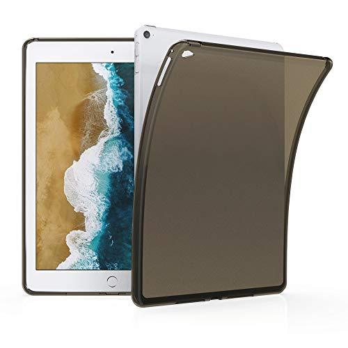 kwmobile Funda Compatible con Apple iPad Air 2 - Carcasa para Tablet de Silicona TPU - Cover en Negro/Transparente