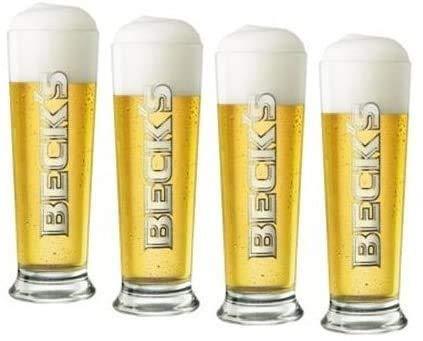 Bierglas Beck'S Seattle [6er Set] 6x0,25l Original Becks Bier Gläser - Gastro Edition