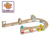 Eichhorn 100002026 Eichhorn-100002026-Kugelbahn, mit Funktionsschienen, 30-TLG, Buchenholz, Bunt