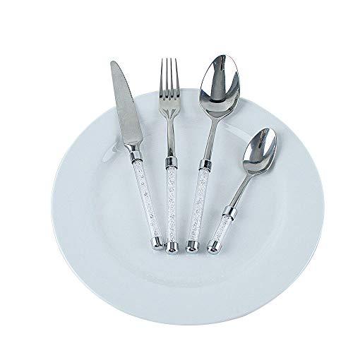 Juego De Vajilla ,Cuchillo y espátula de diamante de acero inoxidable, juego de cuatro piezas de exquisita vajilla, cubiertos, cuchillo creativo para pastel y juego de combinación de espátula, engros