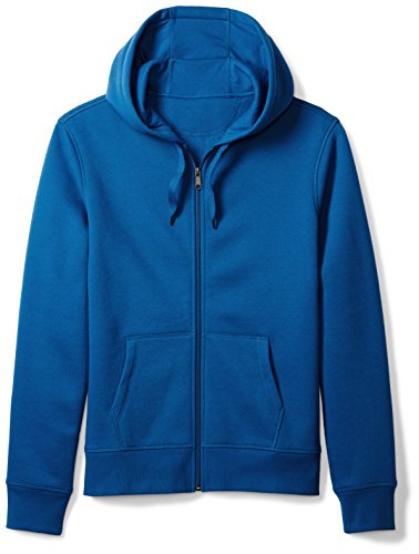 Amazon Essentials Men's Full-Zip Hooded Fleece Sweatshirt, Blue, Large