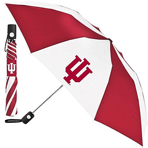 WinCraft NCAA Indiana University Auto Folding Umbrella, Black