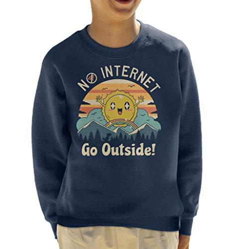 Geen Internet Vibes Sweatshirt voor kinderen