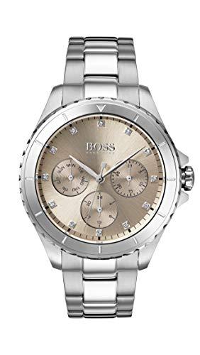 Hugo Boss Damen Multi Zifferblatt Quarz Uhr mit Edelstahl Armband 1502444