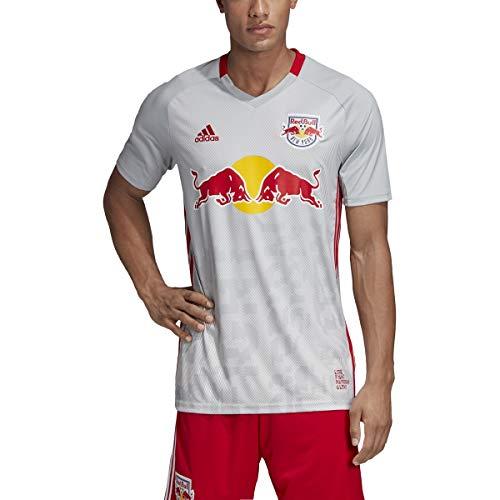 adidas New York Red Bulls Replica Primary Jersey-Gray/White-S