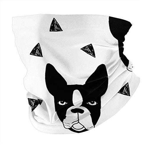 Xinflag@10 Máscara facial para perro, color blanco y negro, a prueba de polvo, a prueba de viento, variedad de cabeza, pasamontañas para mujeres y hombres