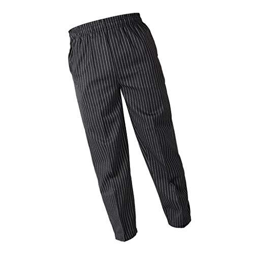 KESOTO Pantaloni Da Cucina Cucina Catering Poliestere Baggy Chef Pantaloni Uniforme Da Lavoro, 4 Modelli 5 Taglie Opzionale - Zebra, M