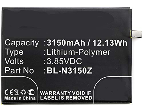 Synergy Digital Cell Phone Battery, Works with Blu VIVO 5R Cell Phone, (Li-Pol, 3.85V, 3150mAh) Ultra High Capacity, Compatible with Blu BL-N3150Z Battery