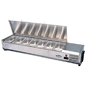 Saladette Réfrigérée à Poser Couvercle Inox Bacs GN 1/3-1200 à 2000 mm - Atosa - R600A 2000 mm