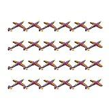NUOBESTY 24 Pcs Mousse Avion Jouets Forme de Requin Démonter Jouets Jeter Avion en Mousse Modèle Jouet Volant pour Les Sports de Plein Air Jardin Cour Jouer