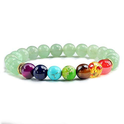 N/A Aniversario Pulseras y brazaletes Yoga Balance Beads Prayer Pulsera elástica Hombres Joyería de Piedra Natural Regalos Regalo de cumpleaños de Navidad del día de San Valentín del día de la Madre