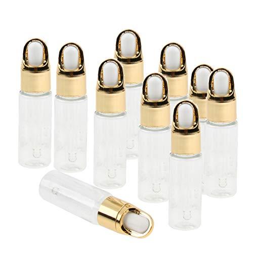 B Baosity 10 Augentropfflaschen glaspipette leere Flasche Aromatherapie ätherisches Öl Serumflasche - klar