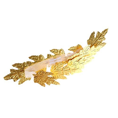 MagiDeal Couronne en Feuille D'or Romaine Grecque Déesse Style Bandeau à Déguisement